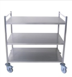 [CI563] CHARIOT / Cart (3 plateaux) 40X60 cm INOX (made in France) - Alter Médical